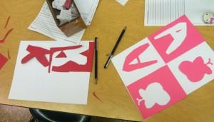 First Graders, Weeks 2 & 3:  Repeat Pattern Collage ~ Looking at Artist, Henri Matisse
