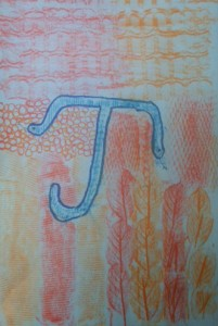 Texture Letter in Complimentary Colors 4