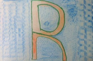 Texture Letter in Complimentary Colors5