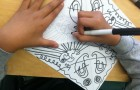 4th Grade Weeks 3 – 5:  Sketchbook Exercise in Shape ~ Exploring Radial Symmetry