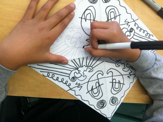 Drawing Lines Of Symmetry : 4th grade weeks 3 u2013 5: sketchbook exercise in shape ~ exploring