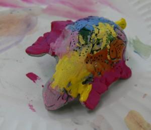 painted Turtle sculpture 2
