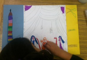 Story Quilts in progress  9